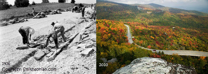 Blue Ridge Parkway Then and Now