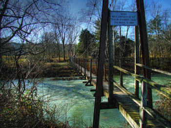 Swinging Bridge at Goshen Pass