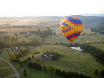 Hot Air Balloon in Charlottesville