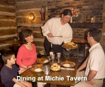 Dining at Michie Tavern