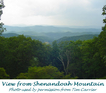 View from Shenandoah Mountain