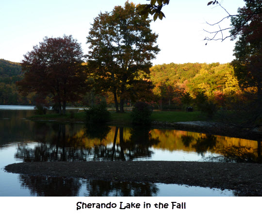 Sherando Lake in the Fall