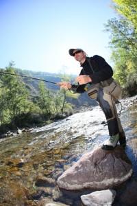 flyfishing trip va mountains