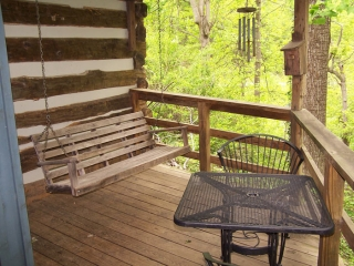 porch swing and deck