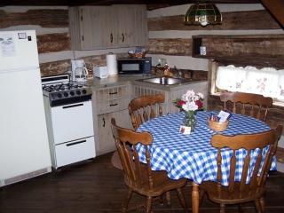 kitchen in our civil war cabin